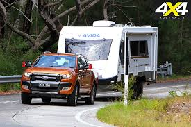 towing with ford ranger ford ranger tows 2500kg caravan 4x4 australia