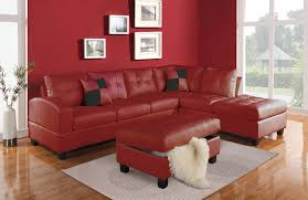 Sofas With Pillows by Kiva Sectional Sofa With 2 Pillows In Bonded Leather Match