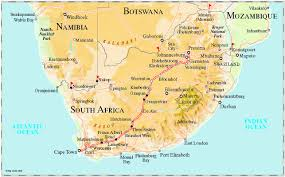 Africa Colonial Map by Luxury Train Club Pride Of Africa Rovos Rail