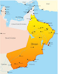 Blank Map Of Middle East by Oman Map With Cities Blank Outline Map Of Oman