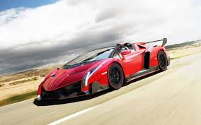 fastest lamborghini lamborghini veneno lp750 4 roadster front side view in motion