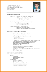 Simple Resume Builder 7 Resume Example Filipino Warehouse Clerk