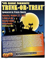 2012 trunk or treat flyer trunk or treat pinterest halloween fun