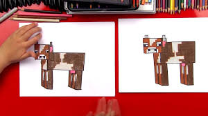 how to draw a minecraft cow art for kids hub