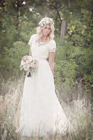 modest wedding dresses airy lace modest wedding gown beautifully hair dress bouquet