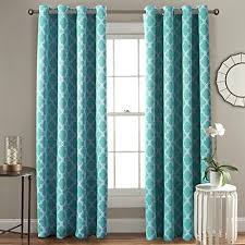 double window treatments double window curtains in blue amazon com