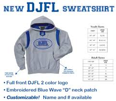 djfl sweatshirt darien junior football league