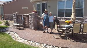 stamped concrete patio landscaping don king landscaping