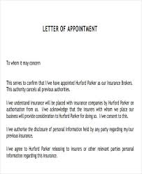 9 agent appointment letter templates free samples examples