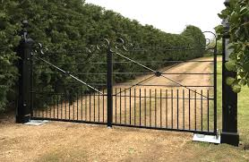 electric wrought iron decorative gates supplied and installed by