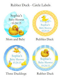 rubber duck baby shower duck baby shower rubber duck favor labels stickers pavia