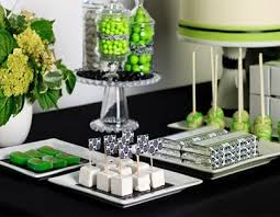 Black And White Candy Buffet Ideas by 35 Best Candy Bar In Green Images On Pinterest Dessert Bars