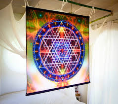 amazon com atlantis mandala tapestry wall hanging 3 sizes
