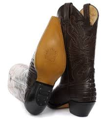 brown leather biker boots grinders western cowboy biker boots with crinkled front details in