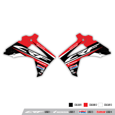 honda motorcycle logos rival ink design co custom motocross graphics honda radiator