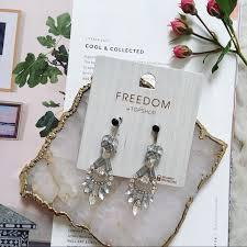 rhinestone chandelier earrings topshop jewelry rhinestone chandelier earrings poshmark