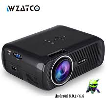 projector for android wzatco ctl80 1800lu portable mini hd 1080p tv led 3d
