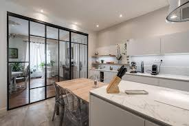 cuisine verriere rénovation complète d une cuisine avec verrière à lyon 6 les