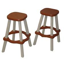 Patio High Table by Leisure Accents 26 In Redwood Resin Patio High Bar Stools Set Of