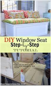 how to build a window seat how to build a window seat tutorial four generations one roof