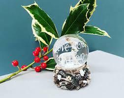 Personalised Snow Globes Tree Decorations Custom Snow Globe Etsy