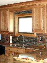 kitchen backsplash with oak cabinets kitchen backsplash pictures with oak cabinets clickcierge me