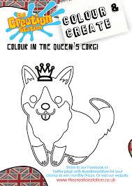 colour u0026 create your own cool queen u0027s corgi enjoy creative fun