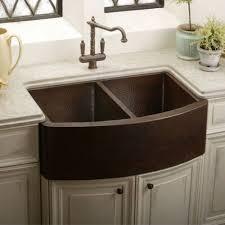 copper apron front sink elkay ecuf3319ach gourmet undermount apron front double bowl copper