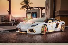 customized lamborghini gallardo meet the one gold plated lamborghini aventador roadster qatar