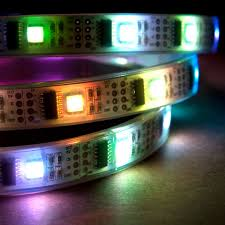 Rgb Led Light Strips by Nooelec 1m Addressable 24 Bit Rgb Led Strip Waterproof Ws2801