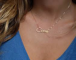 14 karat gold nameplate necklaces 18k gold tiny name necklace solid gold name necklace tiny