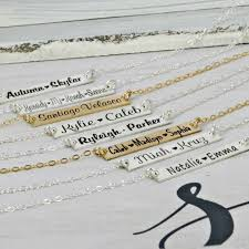 Kids Name Necklaces Beautiful Personalized Bar Kids Name Necklaces From Wickedly Mod