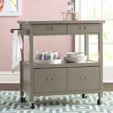 kitchen island with stainless steel top willa arlo interiors eira kitchen island with stainless steel top