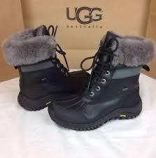 ugg australia womens black grey adirondack boots ugg australia womens adirondack ii black grey color boot
