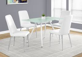Dining Table Ls White Tempered Glass Dining Table From Monarch Coleman Furniture