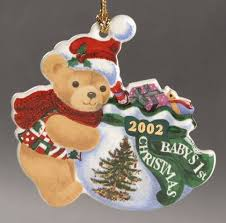 Teddy Bear Christmas Ornaments by Spode Baby U0027s First Christmas At Replacements Ltd