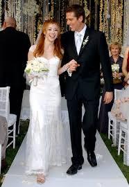 bush wedding dress alyson hannigan illuminate my event