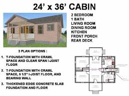 building plans for cabins 24 x 36 cabin floor plans free house plan reviews