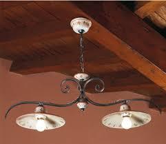 ladari rustici in ceramica lade rustiche in ceramica e ferro battuto illuminazione per
