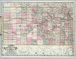 Kansas Map Rail Road U0026 Township Map Of Kansas David Rumsey Historical Map