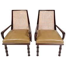 Modern Leather Lounge Chair Viyet Designer Furniture Seating Mid Century Modern Caned