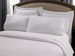 hotel stripe bed u0026 bedding set hilton to home hotel collection