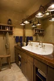 cast iron trough sink castiron 4 sink rustic mountain lodge bathroom wood countertop