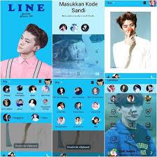 theme line blue theme sticker line diamondnietheme instagram photos and videos