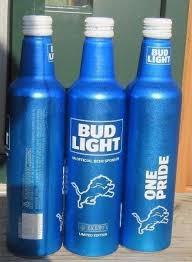 bud light aluminum bottles nfl 2017 bud light nfl kickoff detroit lions aluminum bottle beer can