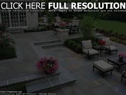 nice backyard stone patio design ideas pea gravel rock photo with