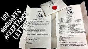 diy hogwarts acceptance letter harry potter youtube