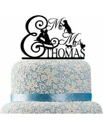 mrs and mrs cake topper new savings on buythrow personalized mr and mrs cake topper