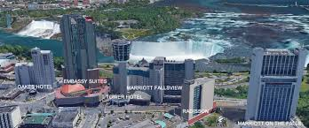 Niagra Falls Map Niagara Falls Hotels Niagara Falls Fallsview Hotels