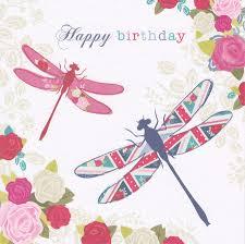 dragonfly birthday card hope and glory cardspark